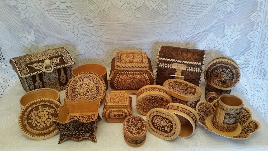 Items made of Russia birch bark - Beresta