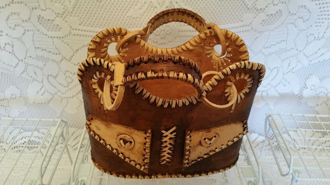 Bag made of Russian Beresta