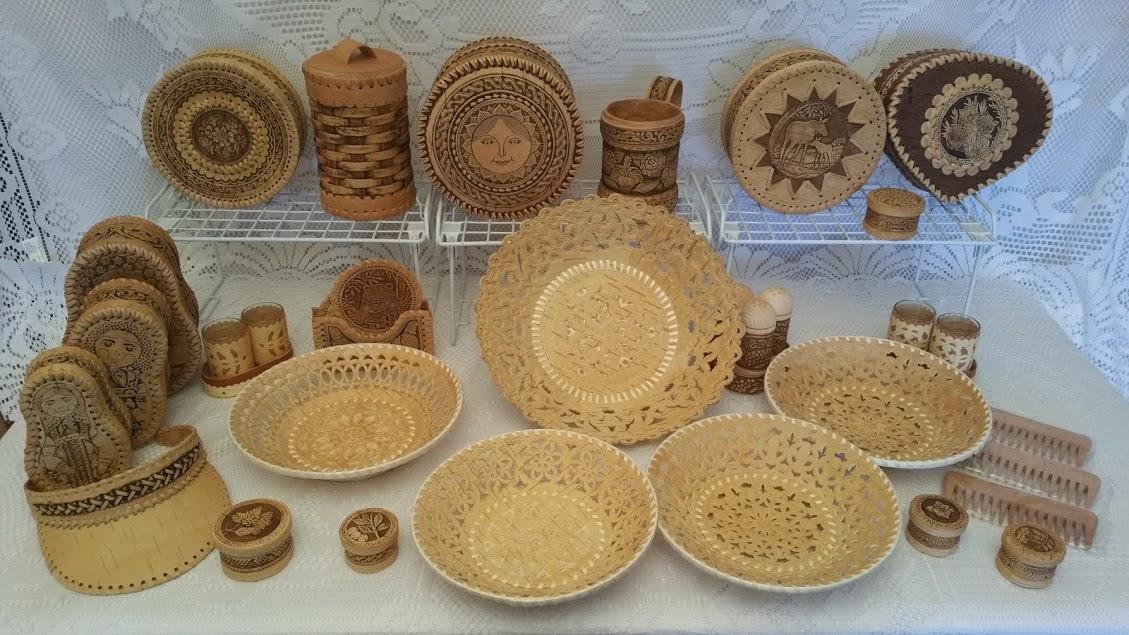 Items made of Russian birch bark - Beresta